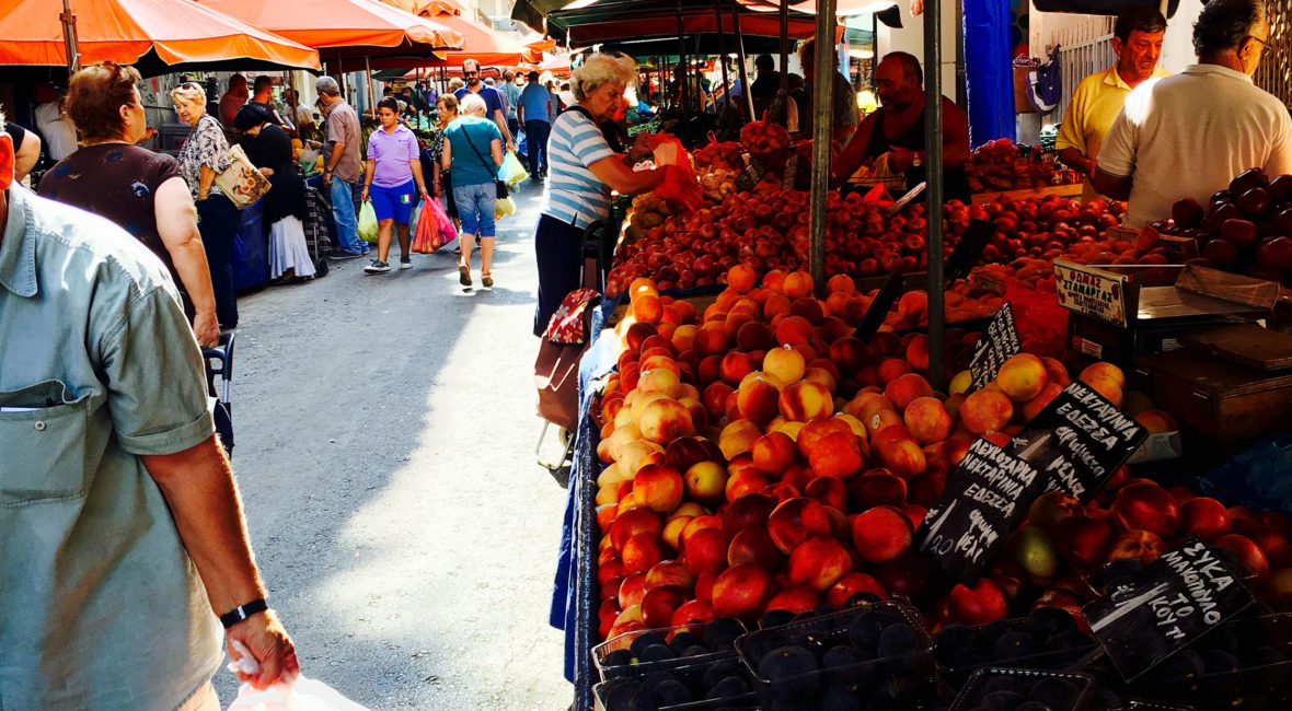 Athenian fresh food market