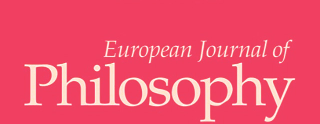 CYA Faculty News – European Journal of Philosophy