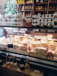 Cheese counter at the deli