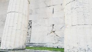 Byzantine graffiti on the Temple of Hephaestus