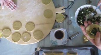 cooking spanakopita