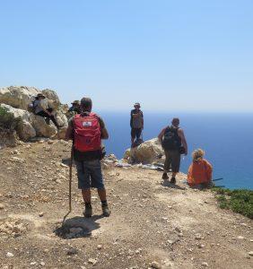 A peak, Matala and Red Beach