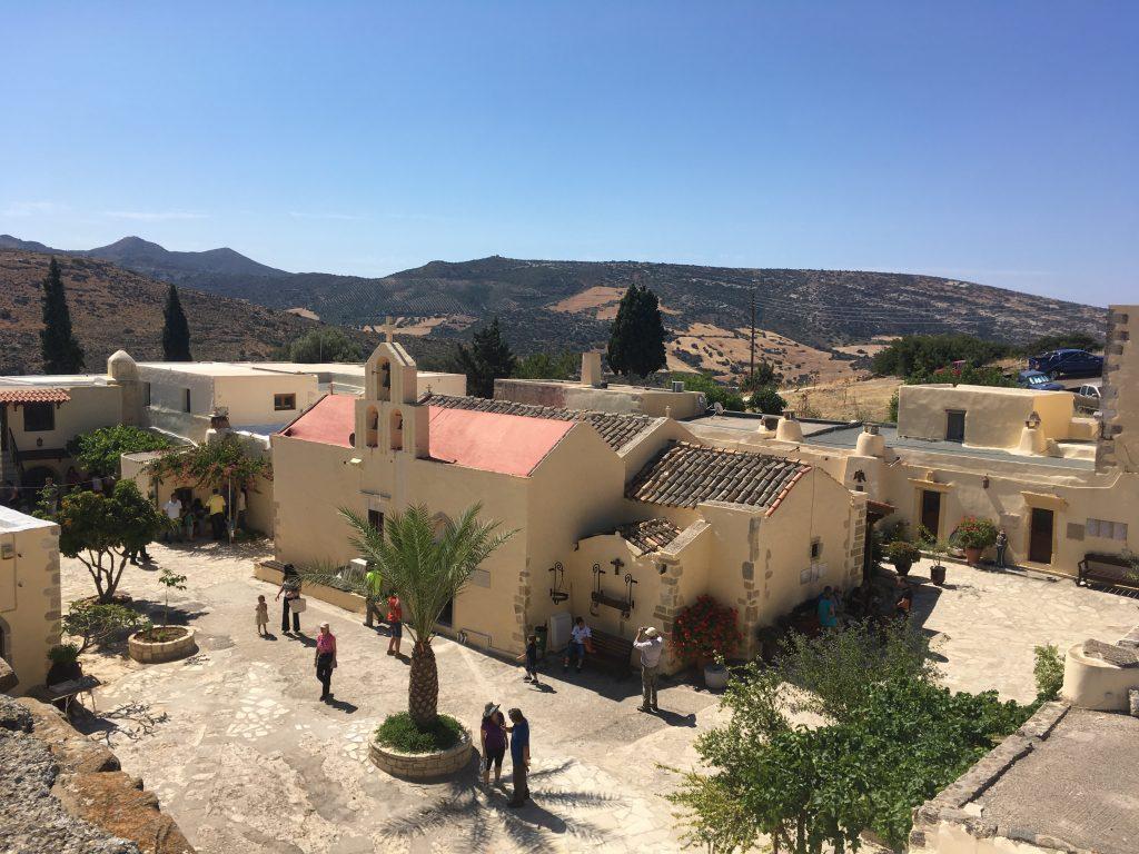 Monastery, Matala and Red Beach