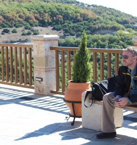 Vassilis used the peaceful monastic spaces in the mountains to ponder his life choices of supervising crazy college students during his weekends.