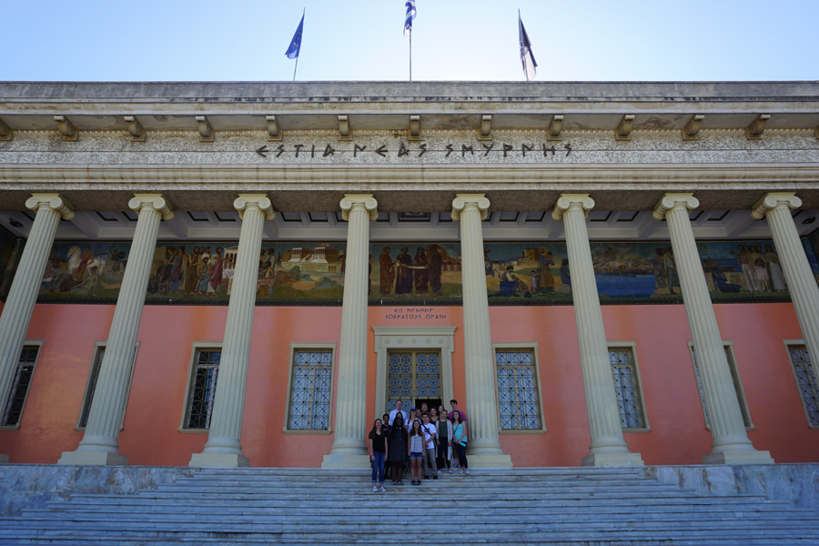 the impressive cultural center of Nea Smyrni, dedicated to the heritage of Asia Minor Greeks