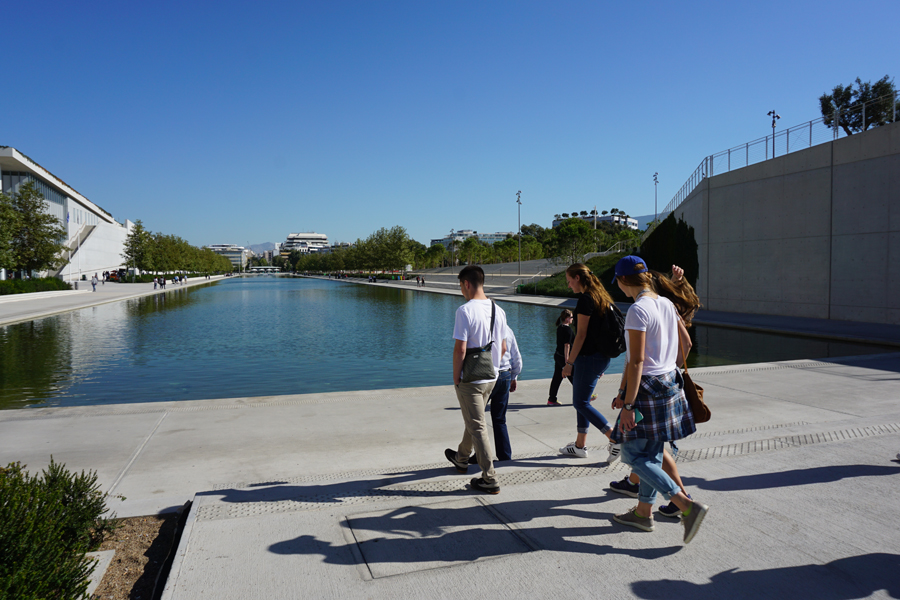 Ariving at the Stavros Niarchos foundation