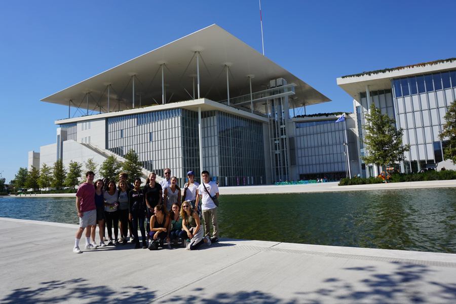 Group Photo outside Stavros Niarchos Foundation