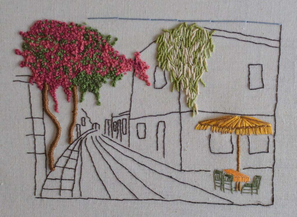 Hand Embroidery of Athens - By CYA Librarian Georgia Katsarou