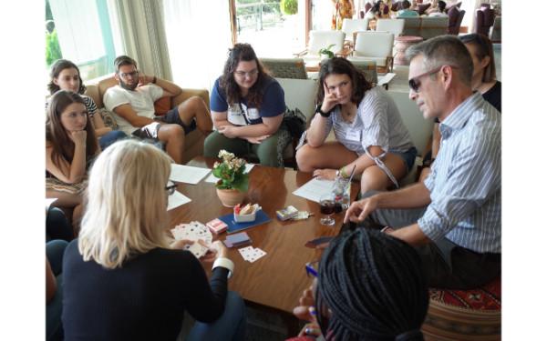 Bonding Activities: playing μπιριμπα (Greek card game)