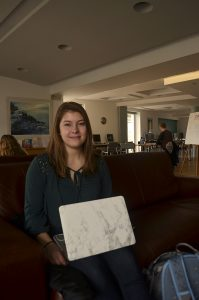 A portrait of Bailey at the CYA Student Center