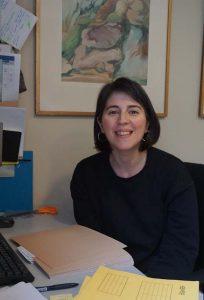 Portrait of Anthi at her desk