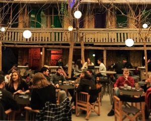 People enjoying their evening at The Art Foundation bar